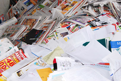 Pile of Office Papers to Dispose Of