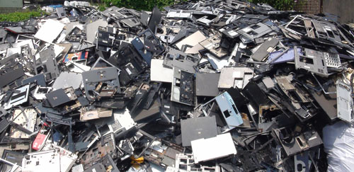 Huge Pile of E-Waste