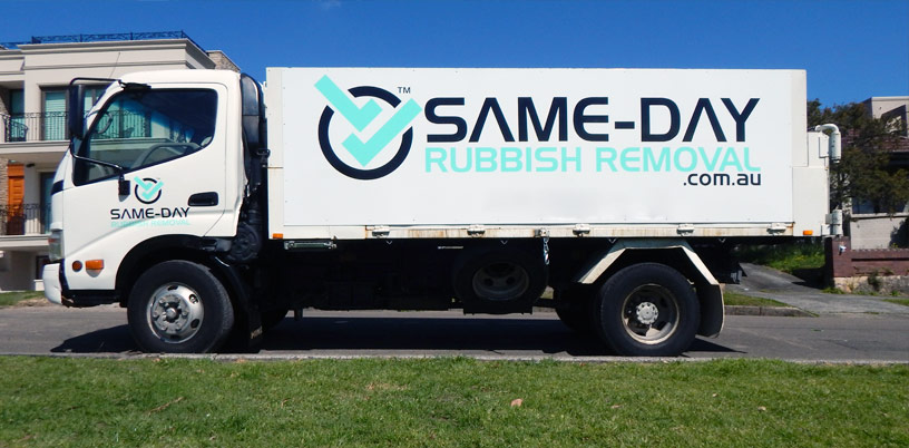 Same-Day Rubbish Truck